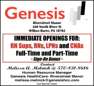 RN Sups, RNs, LPNs and CNAs