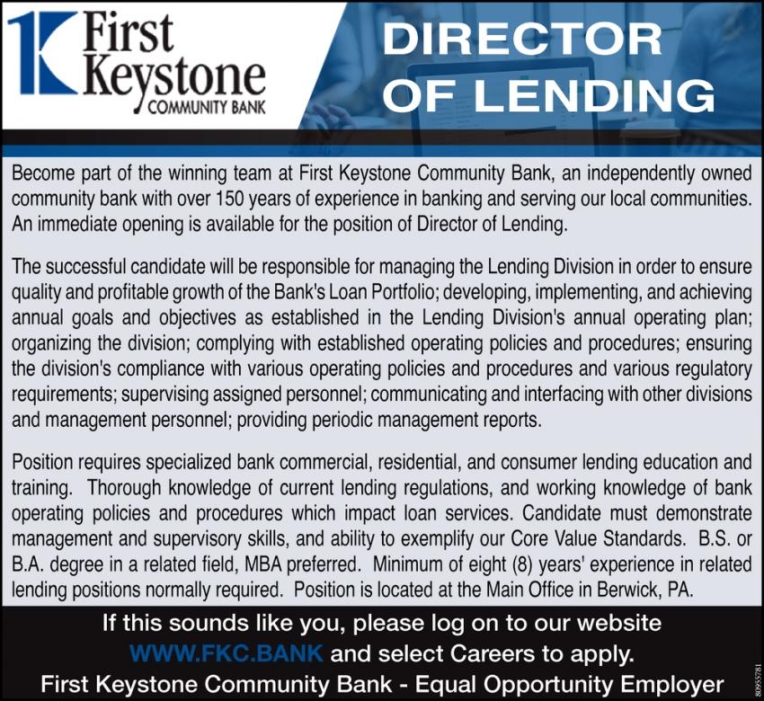 Director of Lending