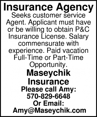 Now Hiring Customer Service Agent